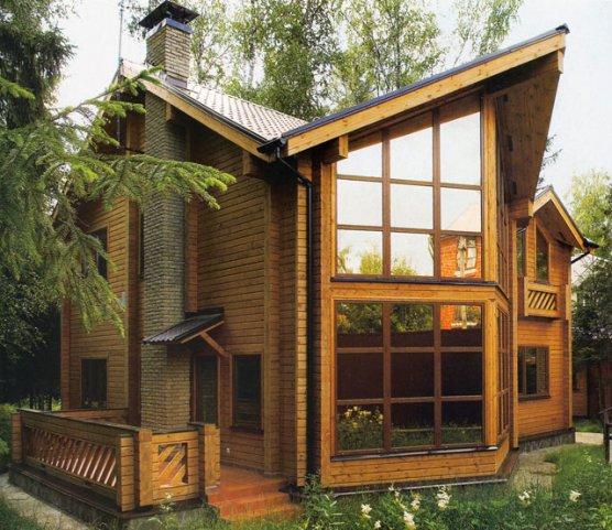 Дизайн загородного дома с панорамными окнами
