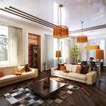Дизайн длиной гостиной в частном доме