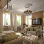 Фото гостиной в стиле прованс в частном доме
