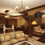 Фото интерьера гостиной в частном доме