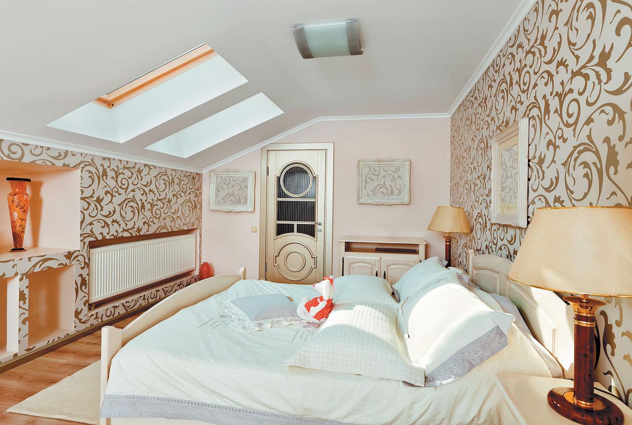 Дизайн комнаты с мансардным потолком
