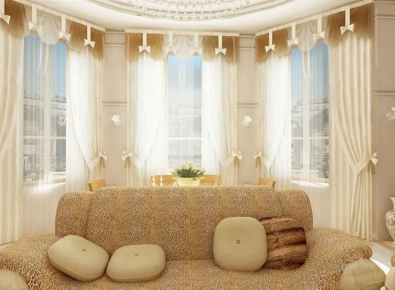 Фото дизайна гостиной с эркером фото