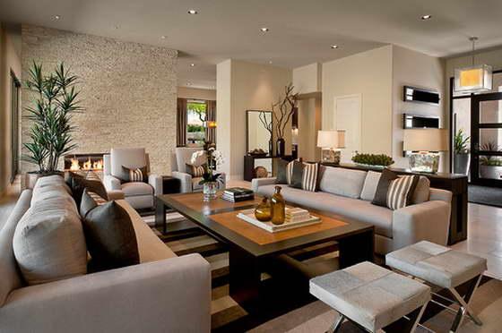 Идея оформления гостиной в современном стиле