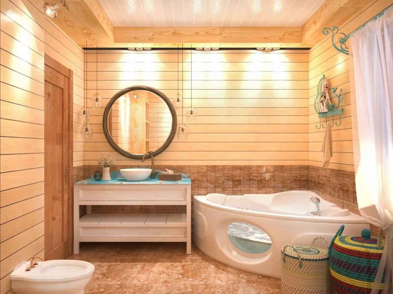 идея оформления ванной
