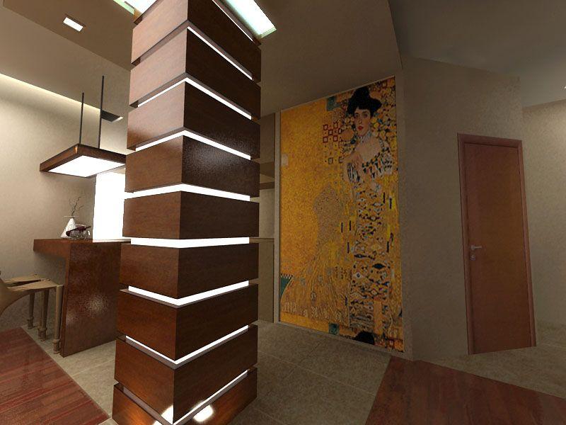 Колонна в квартире дизайн