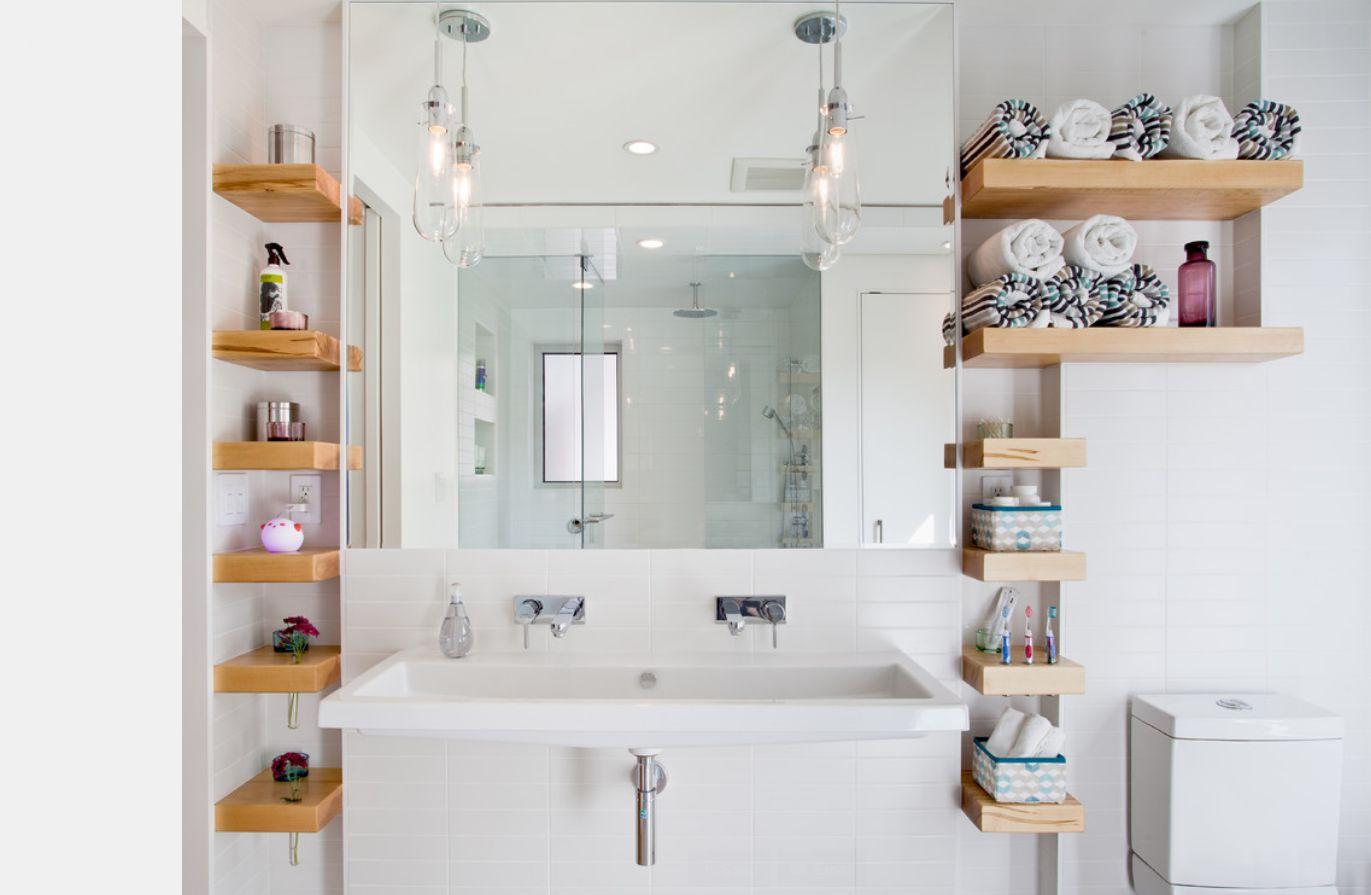 Идеи полок для ванн