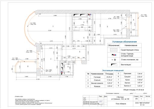 Поэтажный план помещения