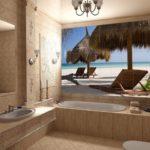 Тропический стиль в ванной