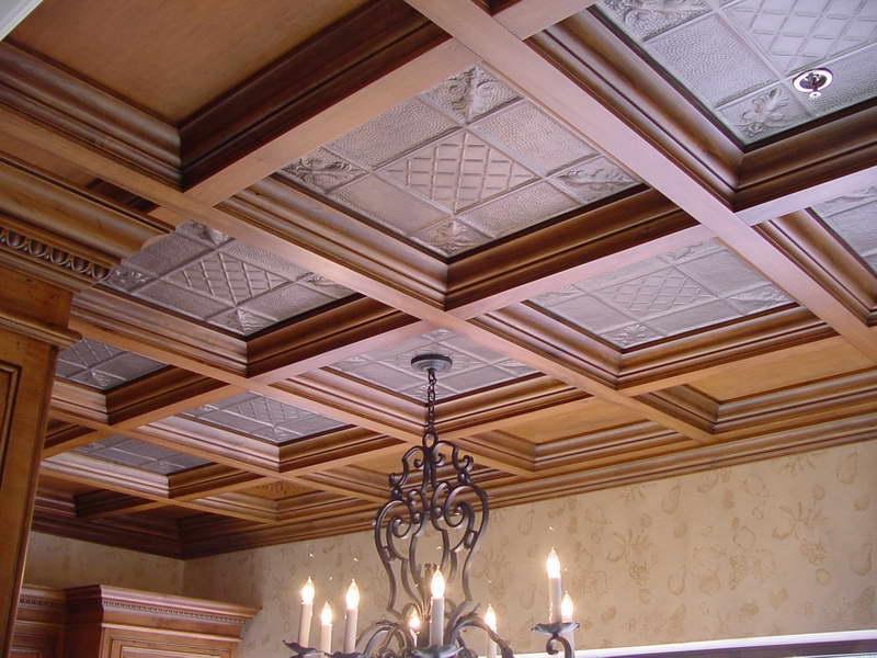 Кессоны на потолке
