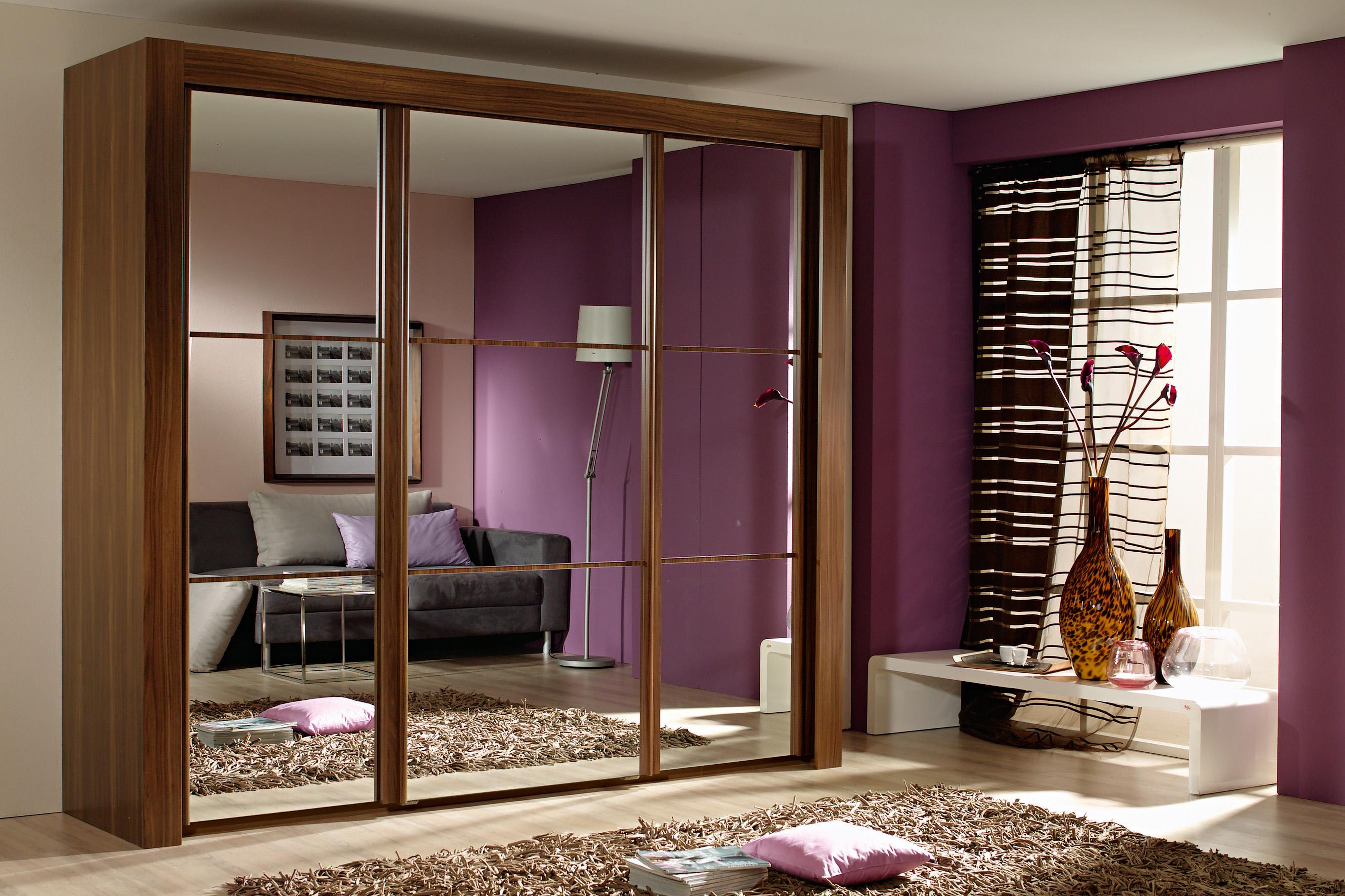 шкаф купе в интерьере спальни Dipris Studio