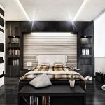 Дизайн черно-белой спальни фото