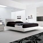 Дизайн черно-белой стильной спальни