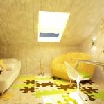 Дизайн детской комнаты на монсарде фото