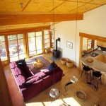 Дизайн гостиной в деревянном частном доме фото