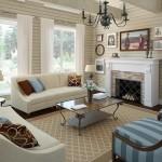 Дизайн гостиной в стиле прованс в загородном доме