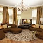 Дизайн круглой гостиной в частном доме