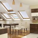 Дизайн кухни на мансарде фото