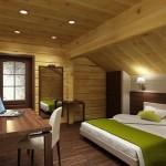 Дизайн мансарды в деревянном доме