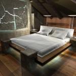 Дизайн-проект спальни на мансарде фото