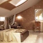 Дизайн спальни на мансарде с окнами в крыше