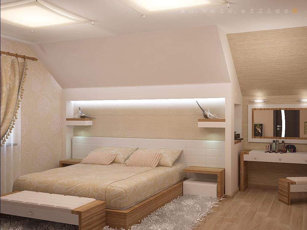 Интерьер мансарды – дизайн мансардного этажа – превращаем ...