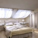 Дизайн спальни на мансарде в стиле минимализм фото