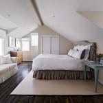 Дизайн спальни на всю мансарду