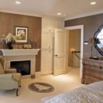 Дизайн спальни с камином в частном доме фото
