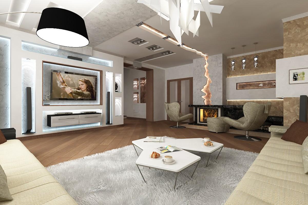 Дизайн гостиной столовой комнаты