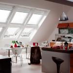 Фото дизайна кухни на мансарде