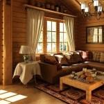 Фото гостиной в частном доме с креслом-качалкой