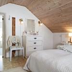 Фото оформления спальни на мансардном этаже