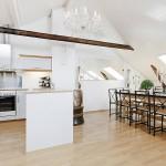 Интерьер кухни на мансарде фото