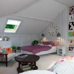 Комната на мансарде для девочки в стиле прованс