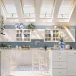 Кухня в стиле прованс на мансарде