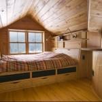 Маленькая спальня на мансарде фото