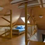 Небольшая гостевая спальня на мансарде