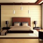 Спальня со светлыми деревом в интерьере