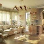 фото кухни-гостиной в частном доме