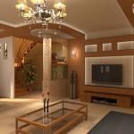 фото оформления кухни-гостиной в частном доме