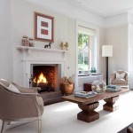 Пристенный камин в загородном доме: фото дизайна