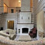 Камин по центру гостиной - отопление и центральная часть декора