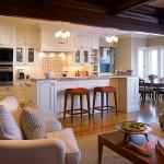 интерьер кухни-гостиной в частном доме