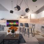 кухня-гостиная в стиле модерн
