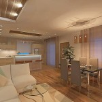 кухня-гостиная в стиле минимализм фото