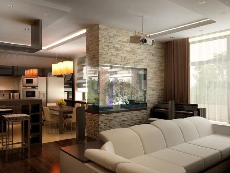 Кухня гостиная в загородном доме. дизайн