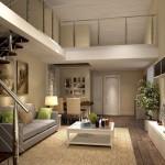 Лестница в гостиной фото дизайна