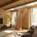 Лестница, занимающая мало места в гостиную