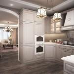 небольшая кухня в кухне-гостиной фото дизайна