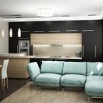 оформление дизайна кухни-гостиной